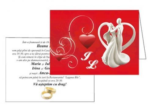 Invitatii de nunta personalizate INVN024 de la Apia Prest Srl