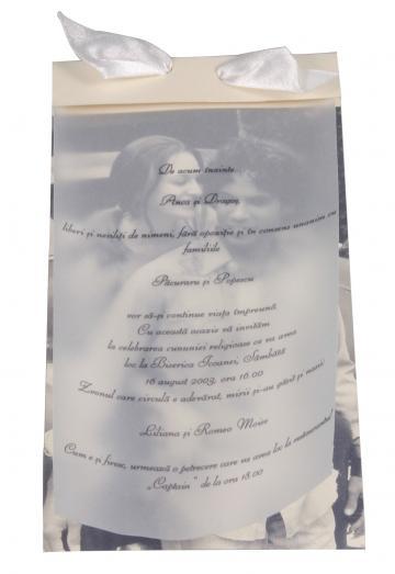 Invitatii de nunta personalizate INVN025 de la Apia Prest Srl