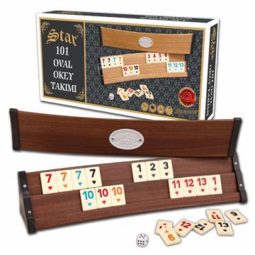 Joc remi/rummy din lemn curbat de la Chess Events Srl