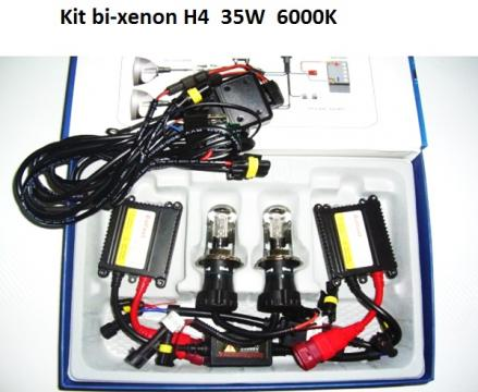 Kit bi-xenon H4 6000K, 35W, 3200lm, balast slim digital