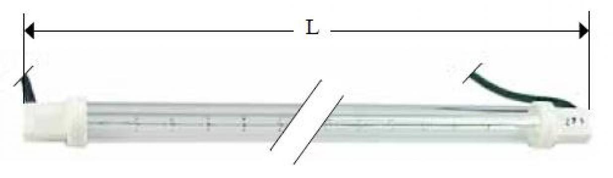 Lampa infrarosu 240V, 300W, L 218mm