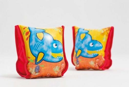 Mansete inot Intex cu design cu rechini (56659EU) de la Pepita.ro