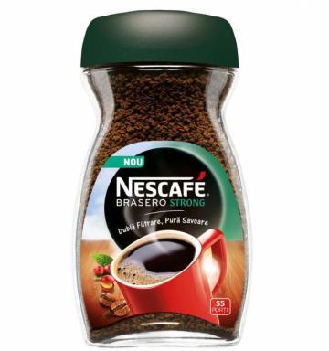 Cafea solubila Instant bo. Nescafe Brasero Strong 100g de la KraftAdvertising Srl