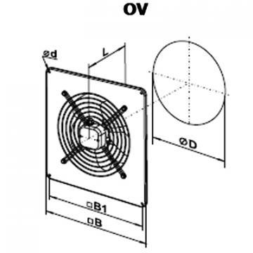 Ventilator axial OV 4D 550