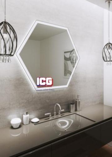Oglinda hexagonala Forte 6 90x78 de la ICG Center
