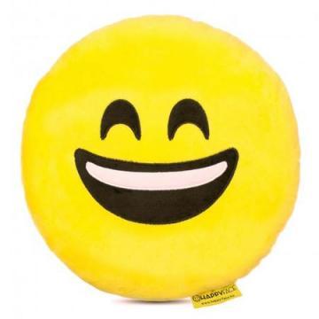 Perna decorativa Emoji Smiley Happy Face, Textil, Galben de la Mobilab Creations Srl