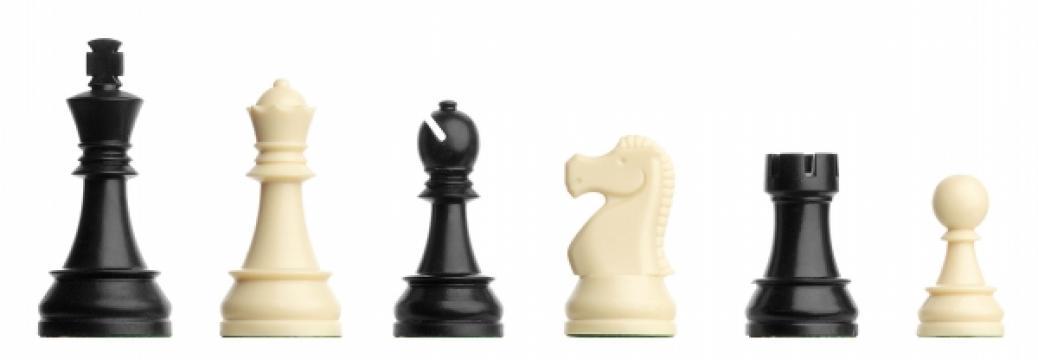 Piese de sah din plastic Staunton 6 DGT de turneu in cutie de la Chess Events Srl