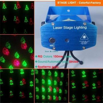 Proiector laser cu 6 figurine luminoase pentru Craciun