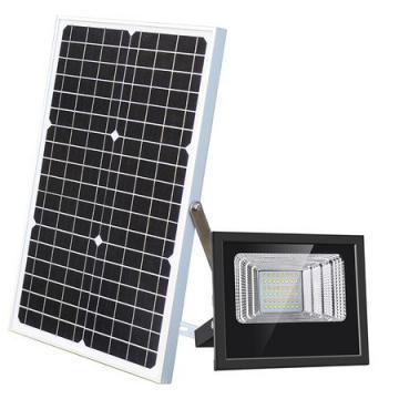 Proiector stradal 100 W, panou solar, telecomanda, IP67 de la On Price Market Srl