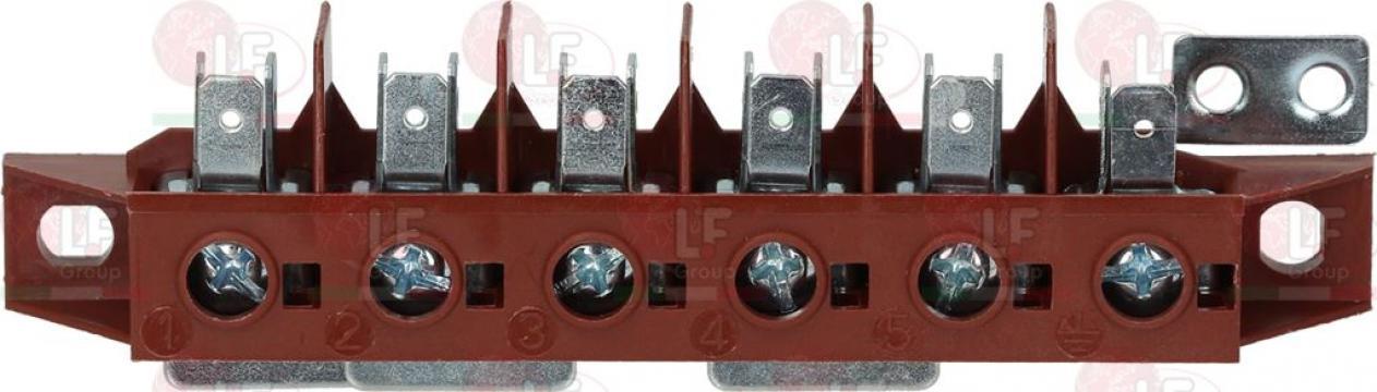 Rigleta conexiuni 6 poli, 40A, 450V, sectiune nominala 6mm