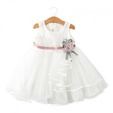 Rochita eleganta de vara Mina, voal, alb de la A&P Collections Online Srl-d