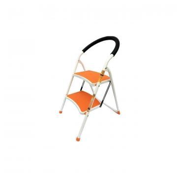 Scara otel 2 trepte Strend Pro WR2061K-1, 150 kg, portocalie