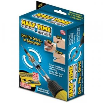 Set biti si adaptor rapid bormasina 20 piese Half Time Drill