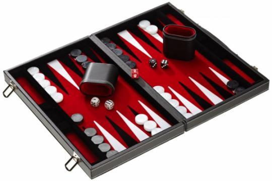 Set joc table/Backgammon Casino Mediu - 45x57 cm de la Chess Events Srl