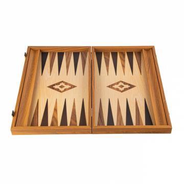 Set joc table/backgammon lemn cu aspect de stejar de la Chess Events Srl
