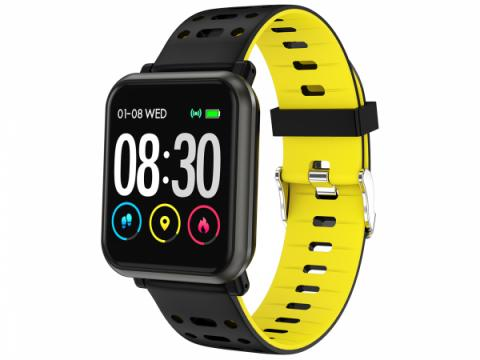 Smart Watch T-Fit 210 HB, negru/galben, puls, tensiune de la Mobilab Creations Srl