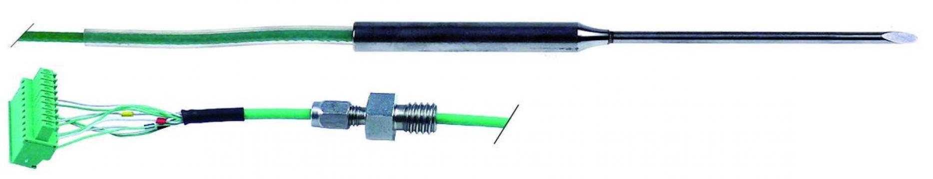 Sonda temperatura termocuplu K (NiCr-Ni) cablu PTFE
