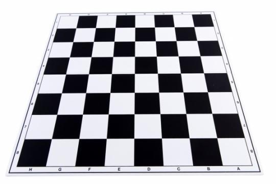 Tabla de sah pliabila PVC (alb-negru) 57 mm de la Chess Events Srl