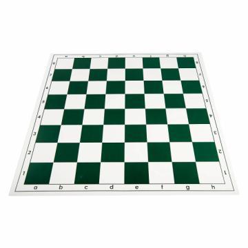 Tabla de sah pliabila PVC (alb-verde) 57 mm de la Chess Events Srl