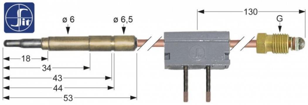 Termocupla Sit cu microintrerupator M9x1
