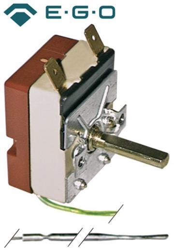 Termostat reglabil 50-250C, 1NO, 16A, bulb 3,1mmx201mm