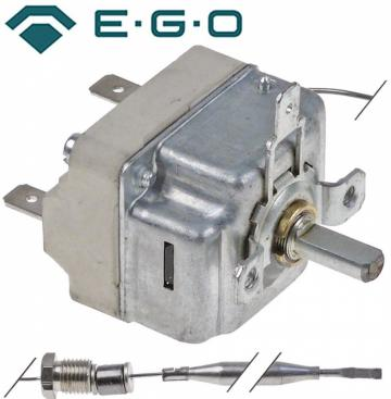 Termostat reglabil 95-180C, 1NO, 16A, M9x1