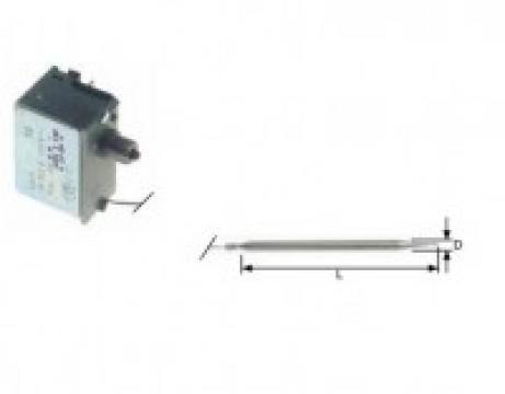 Termostat de siguranta 130*C, 1pol, 16A, bulb 5mmx120mm