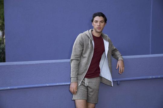 Bluza Unisex Salt and Pepper Hooded Zip Sweatshirt