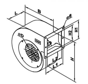 Ventilator centrifugal VCU 2E 160x 62