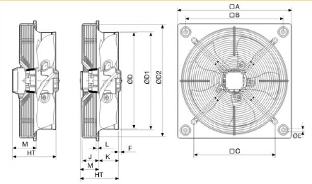 Ventilator axial HXBR/4-560