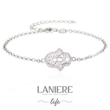Bratara din argint 925% Hamsa - Mana lui Fatima de la Luxury Concepts Srl
