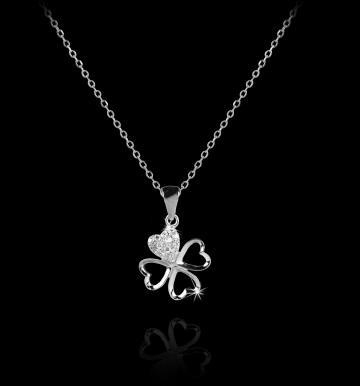 Colier din Argint si cristale austriece Good Luck