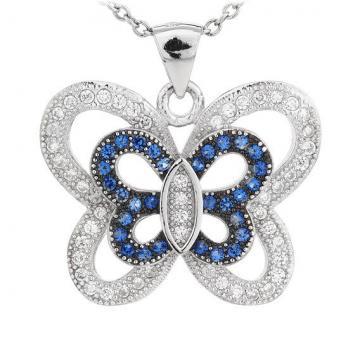 Colier din argint 925% Blue Fly