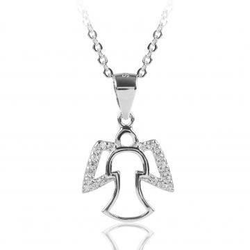Colier din argint 925 cu cristale Little Angel