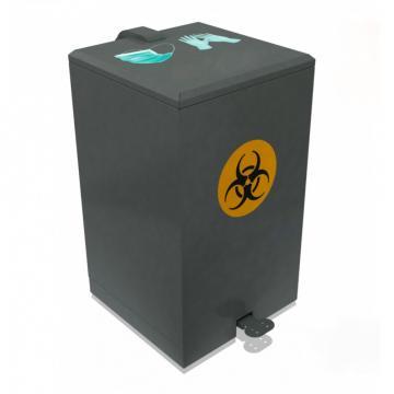 Cos de gunoi pentru masti si manusi, metal, 70 L