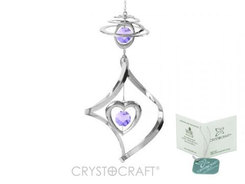 Decoratiune Spirala argintie cu inimioara de la Luxury Concepts Srl
