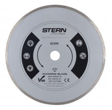 Disc diamantat continuu taiere umeda Stern 230 mm de la Micul Gospodar