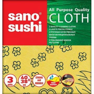 Lavete Sano Sushi Cloth 40x38 cm, 3 buc. / pachet