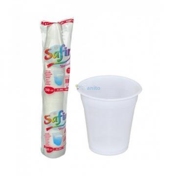 Pahare plastic Premium 200 CC, 100 buc/set de la Sanito Distribution Srl