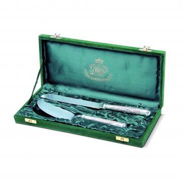Set argintat pentru tort - Sheffield de la Luxury Concepts Srl