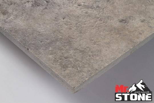 Travertin Silver periat cu laturi drepte 40,6 x 61cm de la Antique Stone Srl