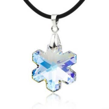 Pandant din argint cu cristal Swarovski Winter star