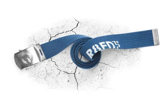 Curea R8ED textila cu catarama metalica albastru - Ardon