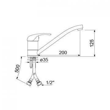 Baterie spalator cu monocomanda 548033