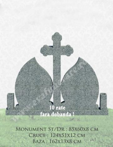 Cruce granit Lacrima dubla 3 de la Casa Funerara Eva Srl