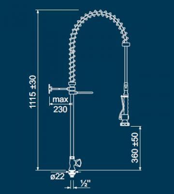 Dus prespalare vase cu un singur robinet 548800 de la Kalva Solutions Srl