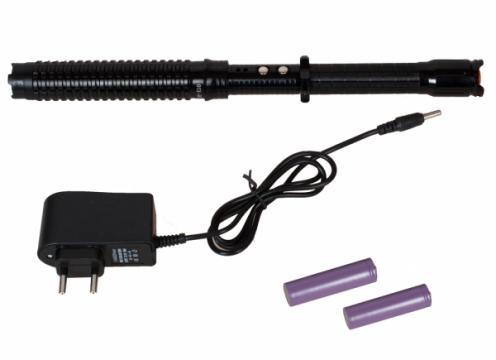 Electrosoc baston extensibil pentru autoaparare Police