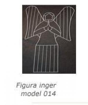 Decoratiune Figurina metalica inger 014