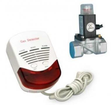 Kit detector gaz metan si GPL cu electrovana 3/4 Detect GAZ