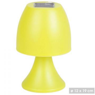 Lampa solara - veioza 19cm-galben de la Plasma Trade Srl (happymax.ro)
